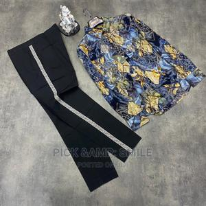 Quality Men's Stripe Pants and Shirts Outfit   Clothing for sale in Lagos State, Alimosho
