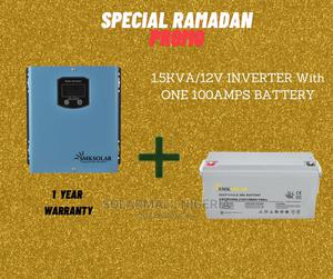 1.5kva/12v Inverter With One 100ah Battery | Solar Energy for sale in Abuja (FCT) State, Wuse