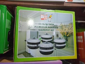 3pcs Aluminum Non Stick Sauce Pot | Kitchen & Dining for sale in Lagos State, Lagos Island (Eko)