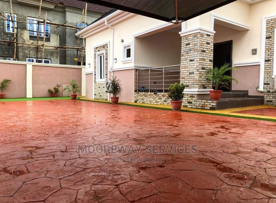Stamped Concrete Flooring | Landscaping & Gardening Services for sale in Alimosho, Lagos State, Nigeria