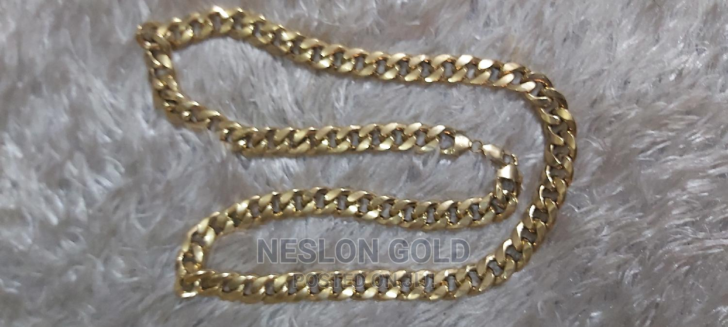 ITALY 750 Tested 18karat Solid Gold Cuban Design | Jewelry for sale in Amuwo-Odofin, Lagos State, Nigeria