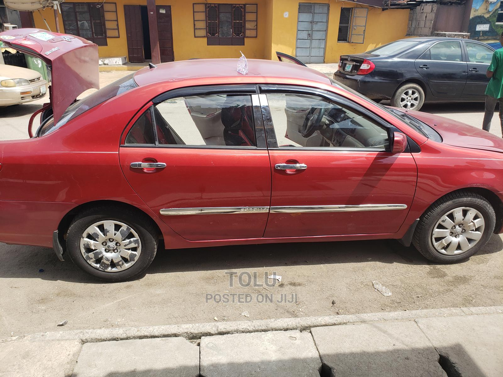 Toyota Corolla 2004 Red | Cars for sale in Surulere, Lagos State, Nigeria