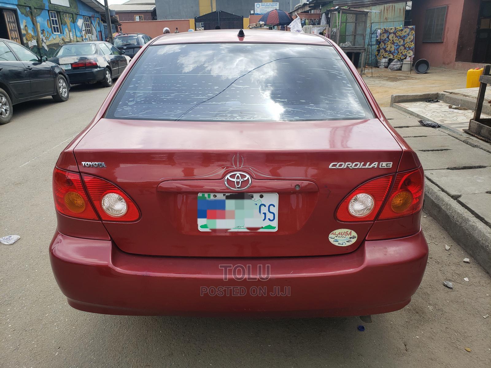 Toyota Corolla 2004 Red