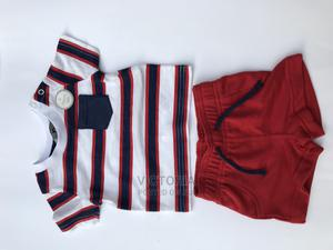 Primark Blue Strip Polo and Red Short Various Sizes | Children's Clothing for sale in Abuja (FCT) State, Kubwa