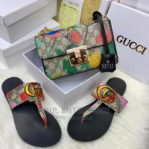 Beautiful High Quality Ladies Classic Handbag and Slippers   Bags for sale in Lagos State, Ikeja