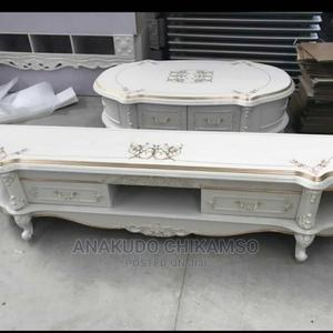 White Tv Stand With Center Table   Furniture for sale in Lagos State, Ojo