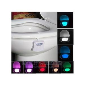 8 Colors Indoor Night Motion Sensor LED Toilet Light   Home Accessories for sale in Lagos State, Ifako-Ijaiye
