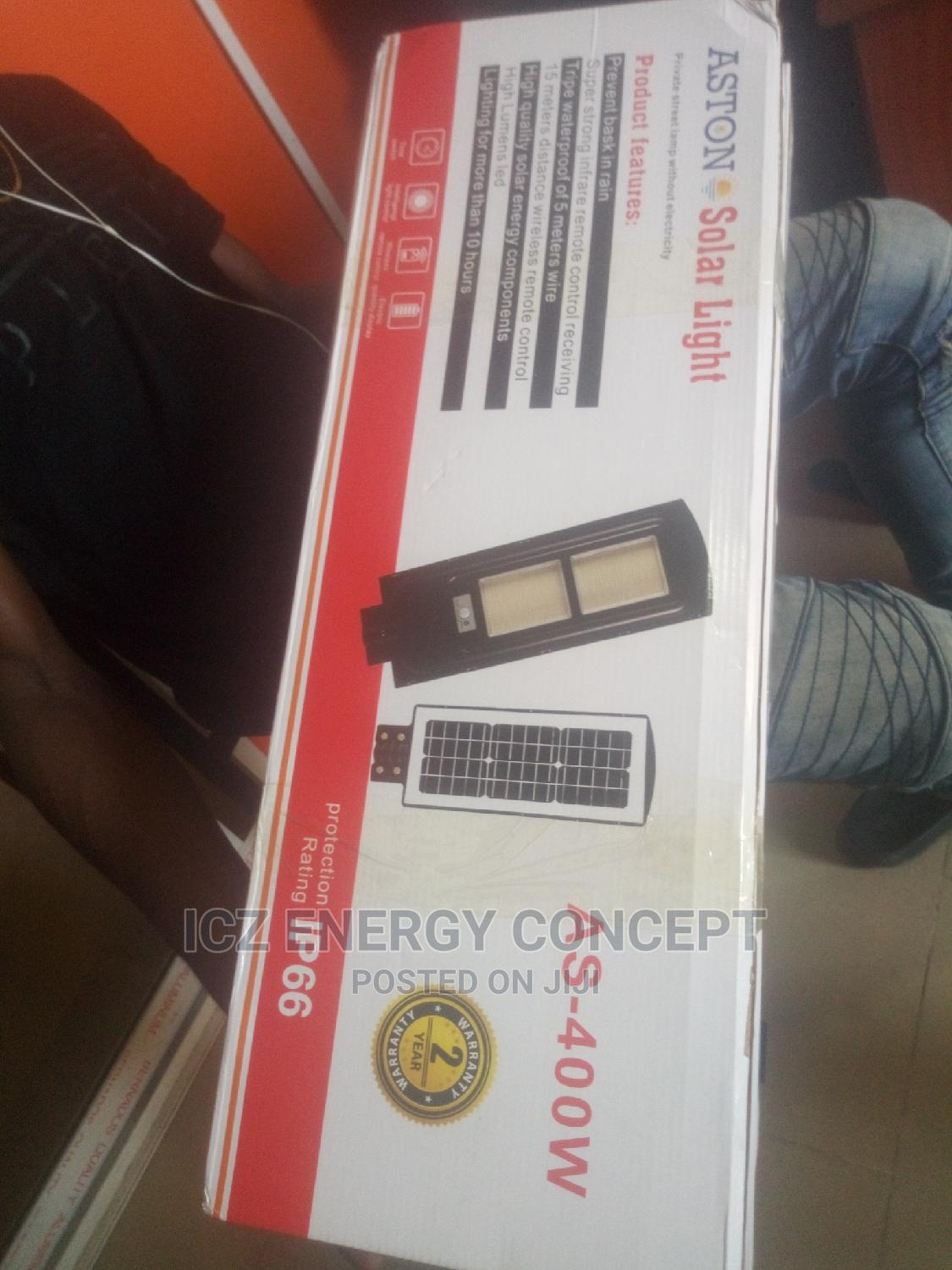 400w Solar Street Light With Pole