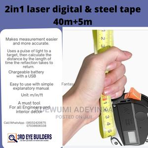 Digital Measuring Laser Tape.2 in 1 With 40m.   Manufacturing Equipment for sale in Lagos State, Ikeja