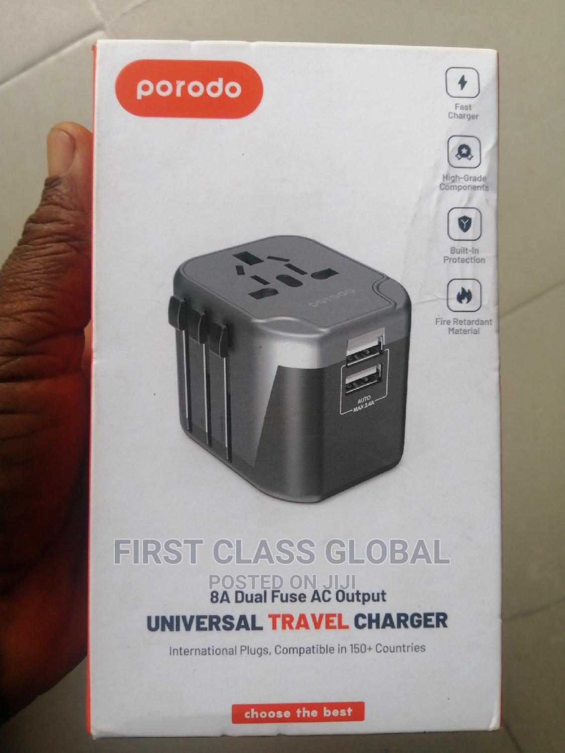Porodo Universal Travel Charger | Accessories for Mobile Phones & Tablets for sale in Ikeja, Lagos State, Nigeria