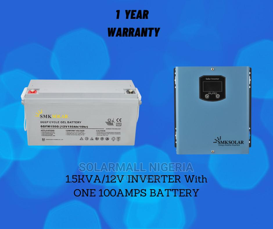 1.5kva/12v Inverter With One 100ah Battery