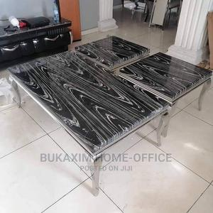 Imported Modern Center Table With Two Side Stool   Furniture for sale in Lagos State, Ojo