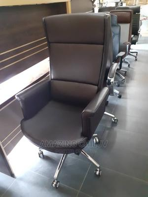 Brown Leather Office Chair   Furniture for sale in Lagos State, Surulere