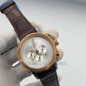 Citizen Chronograph Rose Gold/Silver Leather Strap Watch   Watches for sale in Lagos State, Lagos Island (Eko)