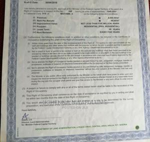 1,649.25sqm Residential Plot of Land In Maitama 2 for Sale | Land & Plots For Sale for sale in Abuja (FCT) State, Maitama