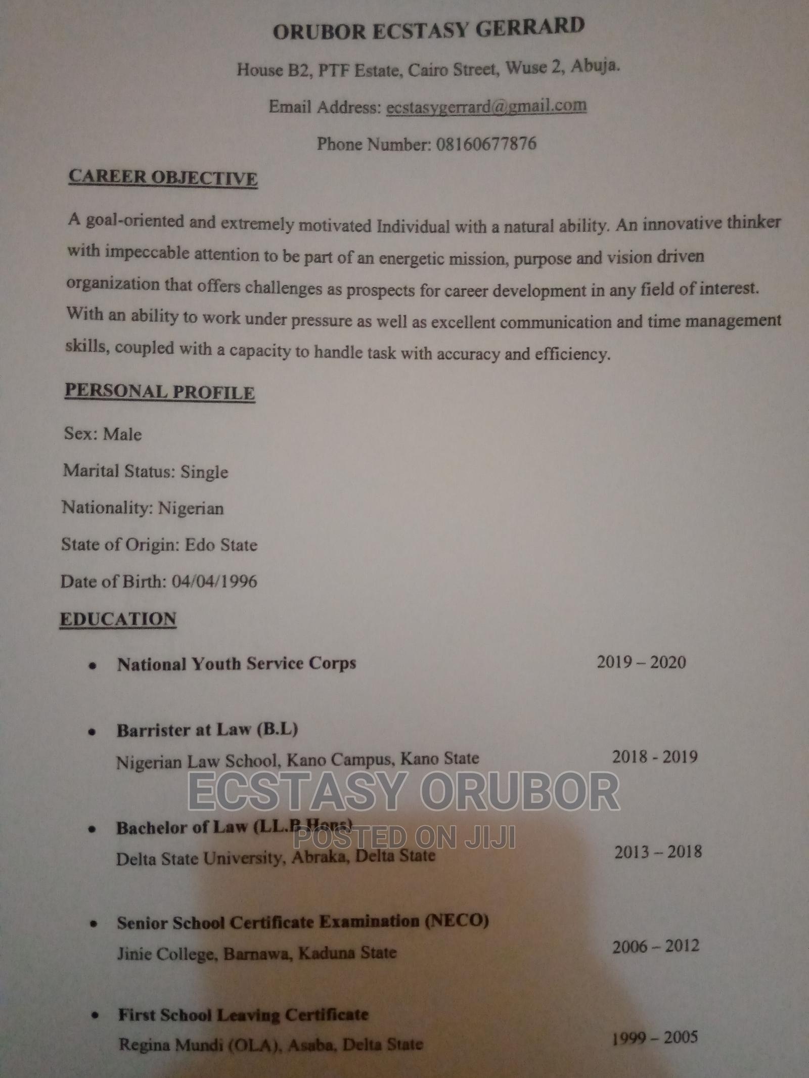Legal CV