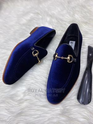 MORESCHI 2021 ITALIAN Velvet Loafers Shoe (Blue)   Shoes for sale in Lagos State, Ikoyi