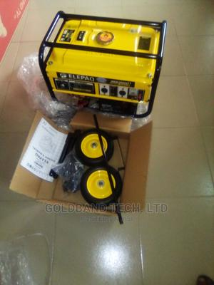 Elepaq 4.5kva Generator With Tyre Battery Key and Handle | Electrical Equipment for sale in Lagos State, Agege