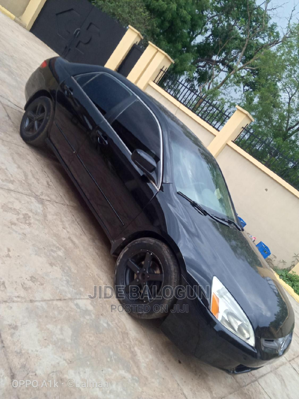 Honda Accord 2005 Sedan LX Automatic Black | Cars for sale in Offa, Kwara State, Nigeria
