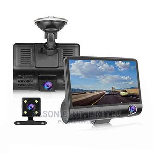 Car Black Box Dashcam 4.0 Inch Screen 1080P 3 Lens Dash Cam | Vehicle Parts & Accessories for sale in Abuja (FCT) State, Wuse