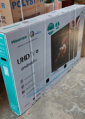 "Hisense Flameless 65""Android UHD 4K Smart TV Netflix+Mount   TV & DVD Equipment for sale in Lagos State, Ojo"