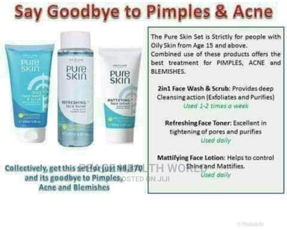 Oriflame Pure Skin Set. Pimples and Dark Spots