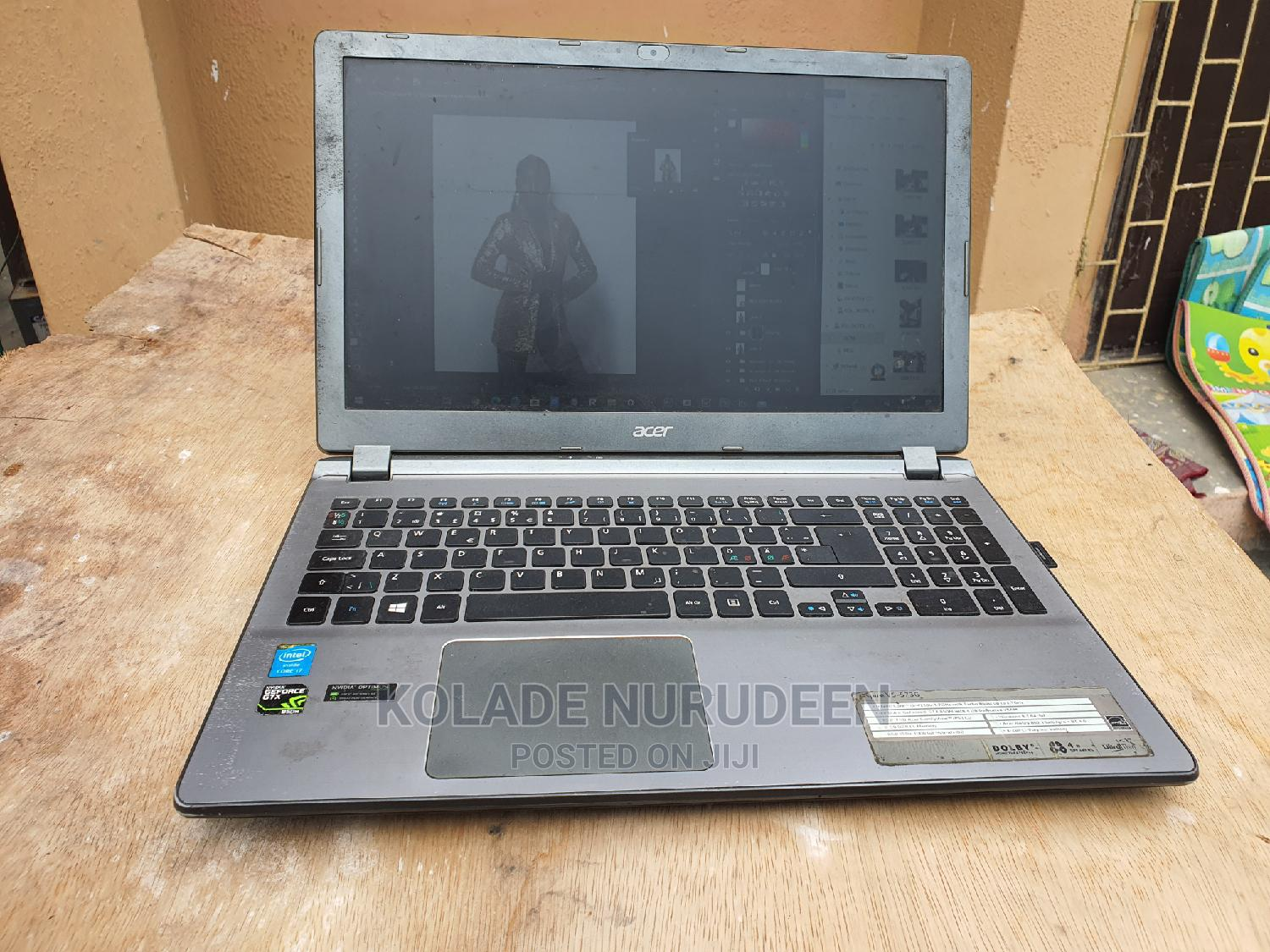 Laptop Acer Aspire V5-573g 8GB Intel Core I7 HDD 256GB | Laptops & Computers for sale in Apapa, Lagos State, Nigeria