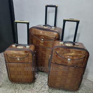 Leather Trolley Luggage 3 Set For Sale | Bags for sale in Lagos State, Ikeja