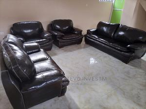 Dack Brown Sofa Chairs Complete by 7 | Furniture for sale in Lagos State, Lekki