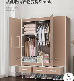 Classy Mobile Steel Wardrobe With Three Drawers   Furniture for sale in Lagos State, Victoria Island
