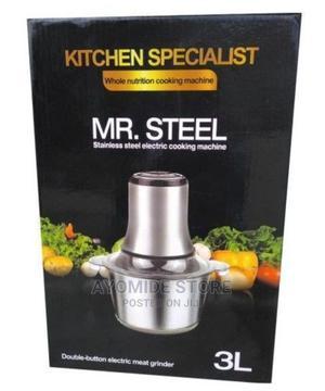Mr Steel Yam Pounder / Food Processor 3 Liters | Kitchen Appliances for sale in Lagos State, Lagos Island (Eko)