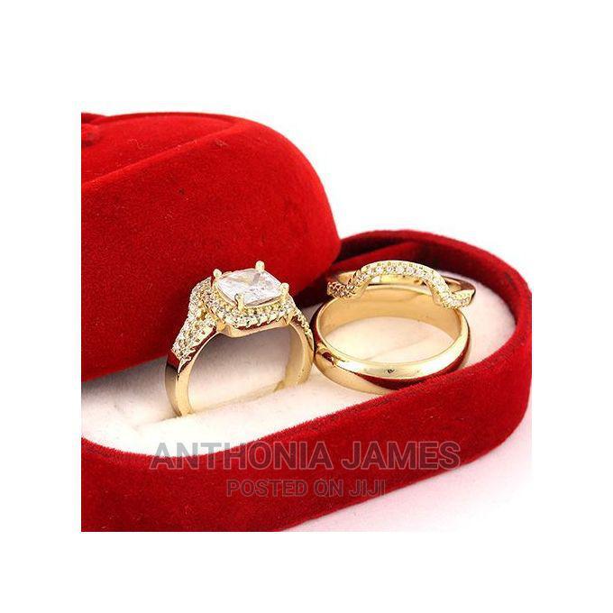 Indiana Gold Wedding Ring Set