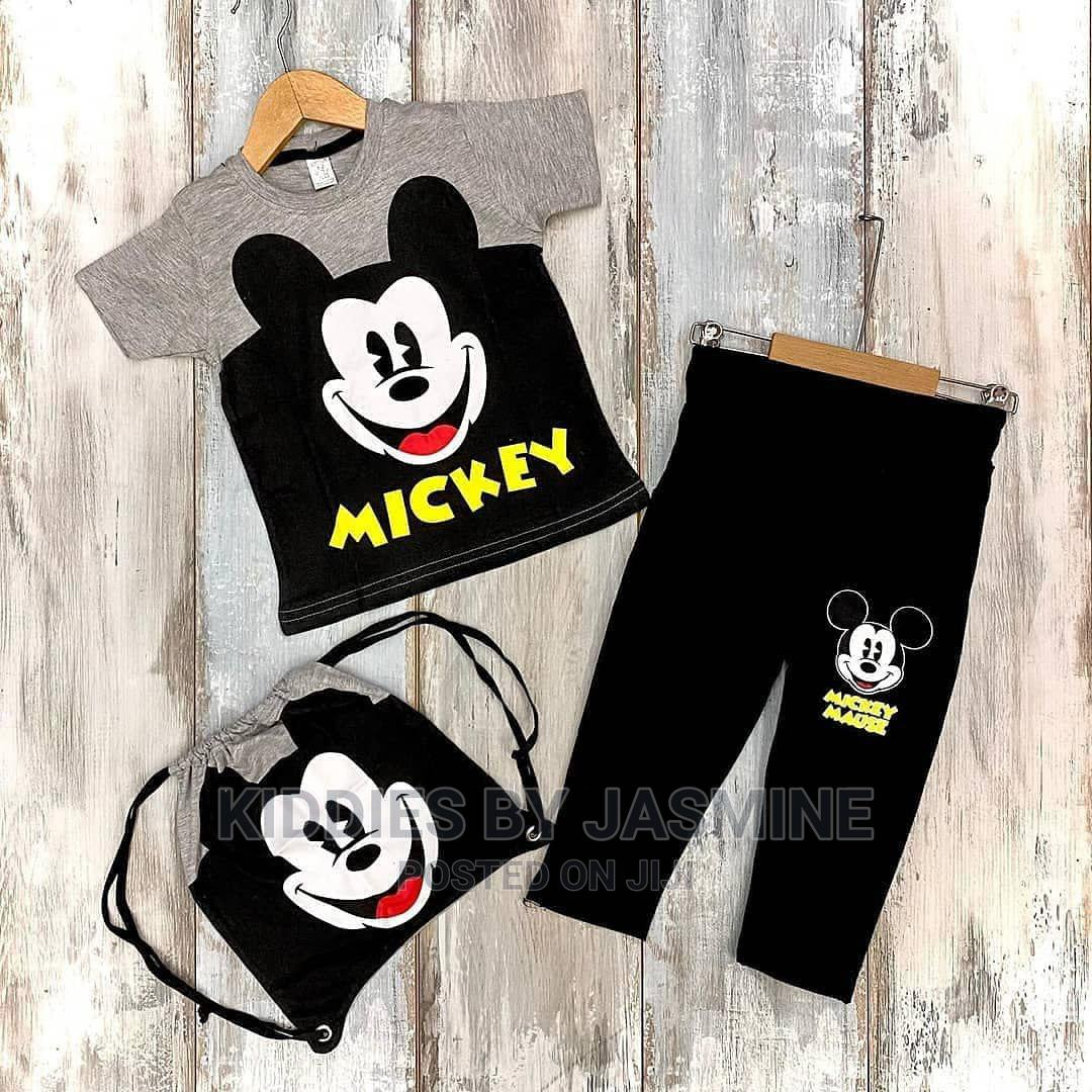 Boy Mickey Set- Top Trouser and Bag | Children's Clothing for sale in Alimosho, Lagos State, Nigeria