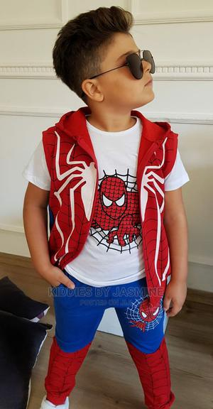 Boy Spiderman Shirtsleeve 3psc Set | Children's Clothing for sale in Lagos State, Alimosho