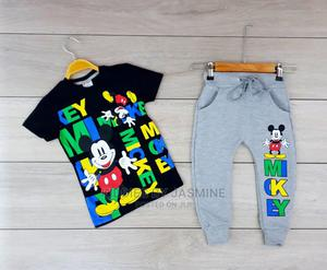 Boy Mickey Decorated 2psc Set | Children's Clothing for sale in Lagos State, Alimosho