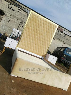 (4.5 by 6) 7ft Quality Bedframe With Two Side Drawer   Furniture for sale in Lagos State, Ojo