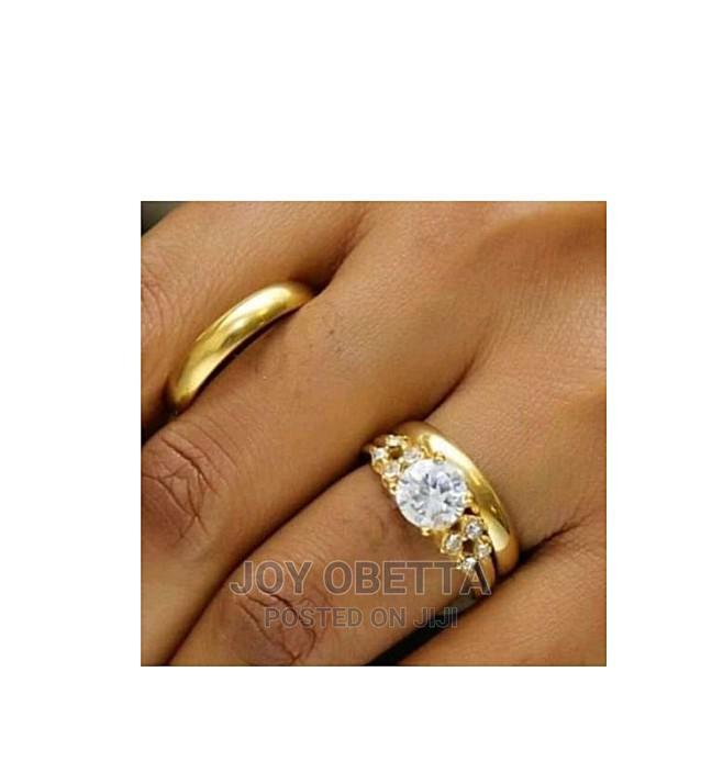 Rommanel Gold Wedding Ring Set