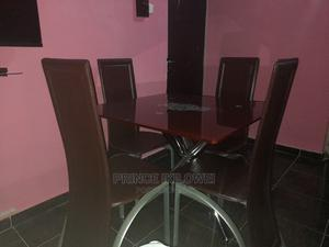 Quality Glass Dining Table by 4 | Furniture for sale in Abuja (FCT) State, Katampe