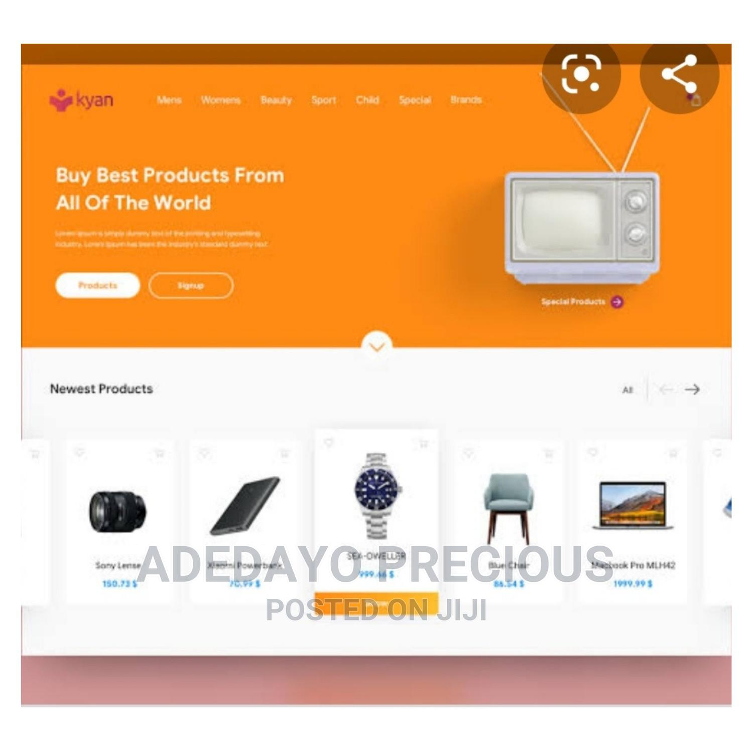 E Commerce Website Design | Computer & IT Services for sale in Oluyole, Oyo State, Nigeria