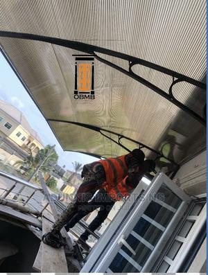 Window Door Awning Canopy Polycarbonate Steel Bracket   Building Materials for sale in Lagos State, Lekki