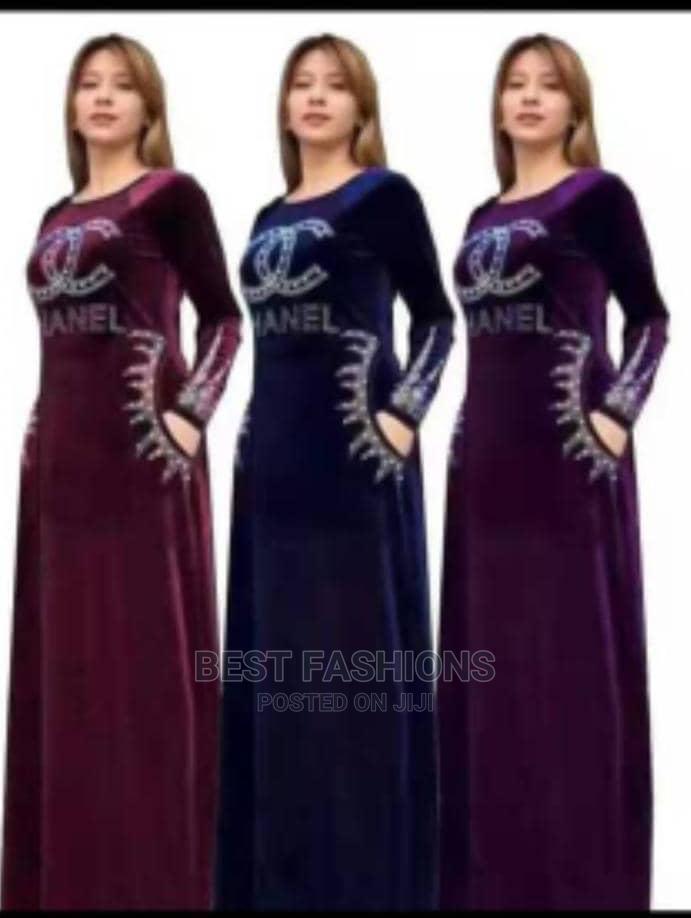 Ladies Quality Velvet Long Dress