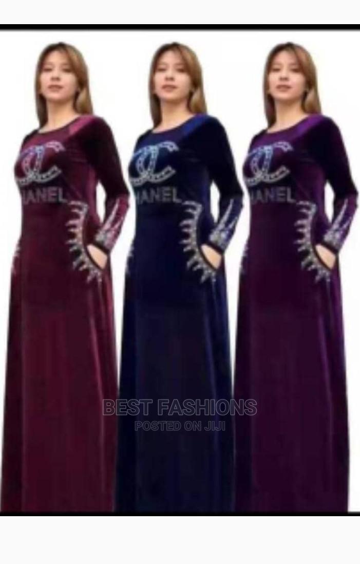 Ladies Quality Velvet Long Dress   Clothing for sale in Ikeja, Lagos State, Nigeria