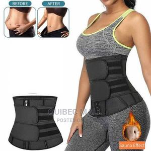 Waist Trainer With Double Belt Black | Clothing Accessories for sale in Lagos State, Agboyi/Ketu