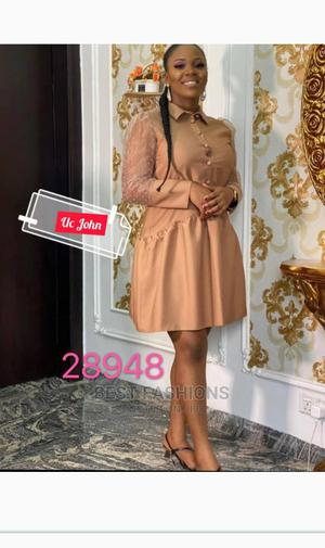 Smart Formal Female Brown Short Dress | Clothing for sale in Lagos State, Ikeja