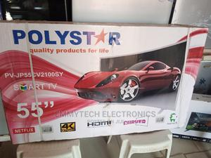 """Polystar """"55""""Inches 4k Curved Smart Tv   TV & DVD Equipment for sale in Abuja (FCT) State, Gwarinpa"""