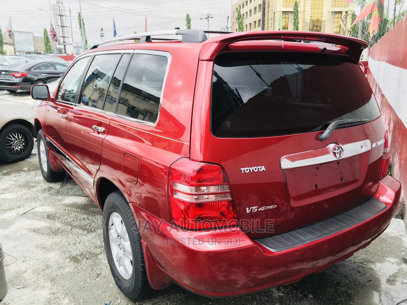 Toyota Highlander 2003 Red
