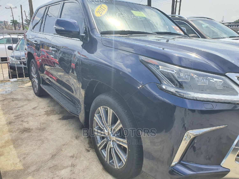 Lexus LX 2017 570 Base Blue | Cars for sale in Ikeja, Lagos State, Nigeria