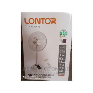 Lontor Rechargeable Fan With Long Battery Life 16inches | Home Appliances for sale in Lagos State, Ikeja