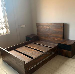 Quality 4 by 6 Bed Frame With Drawers   Furniture for sale in Abuja (FCT) State, Central Business Dis