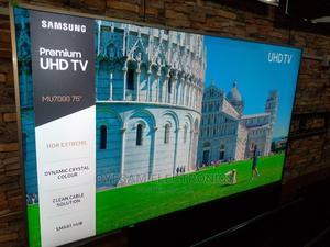 "Brand New Samsung 75"" Premium Uhd 4k Hdr Flat Slim Tv MU7000   TV & DVD Equipment for sale in Lagos State, Ojo"